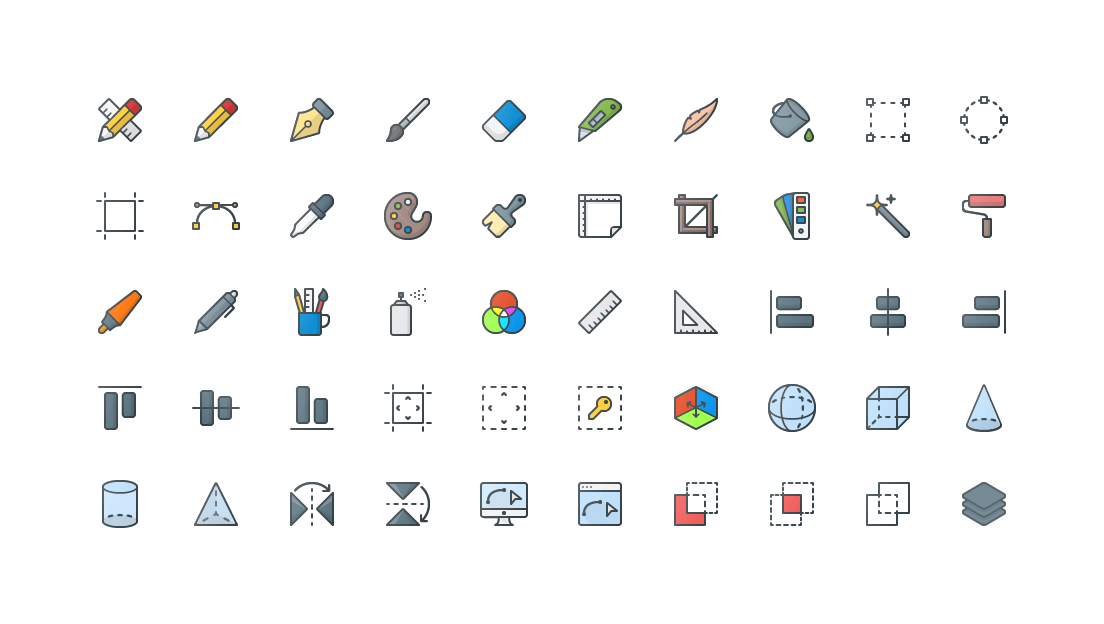 Design Colored Outline Icons
