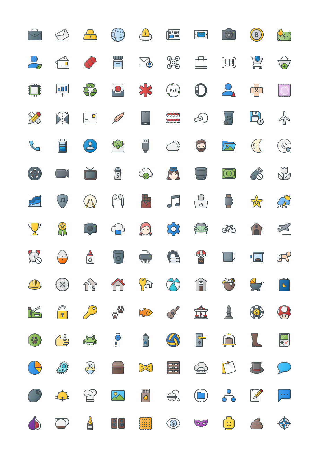 Free Color Outline Icons